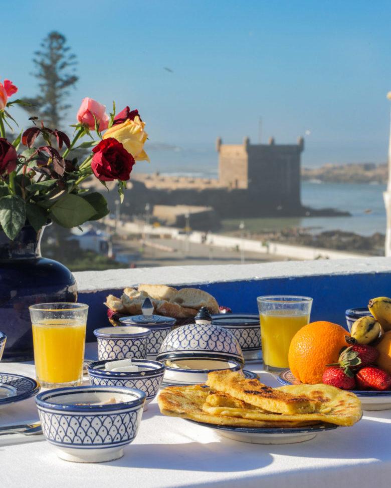 Breakfast Sea View Essaouira Riad Villa Maroc
